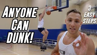 "How to Jump Higher & DUNK! 3 Simple Steps  | 5'10"" Dunker Motivation"