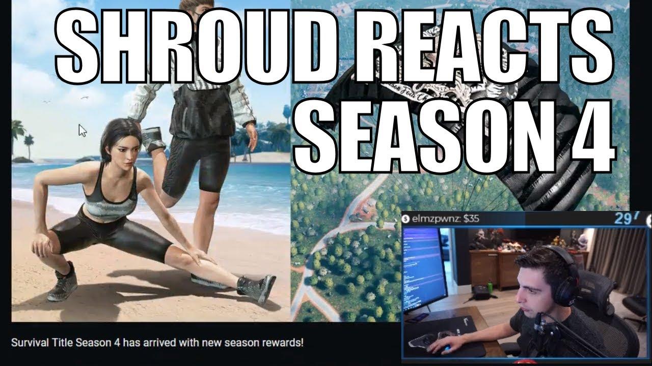 SHROUD ▪ Reacts To NEW Season 4 PUBG Update