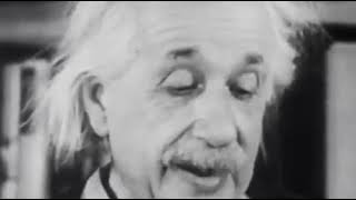 Albert Einstein explains his famous formula E=mc2
