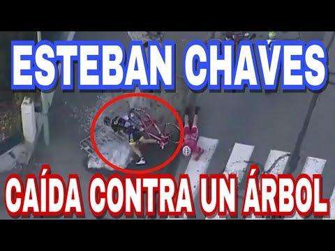 Caída De Esteban Chaves Contra Un Árbol En La París-Niza