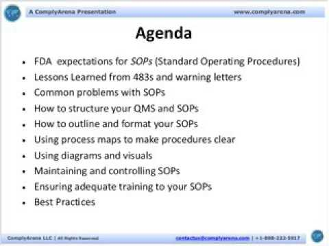 Secrets to Writing Excellent Standard Operating Procedures SOPs - How To Write A Standard Operating Procedure