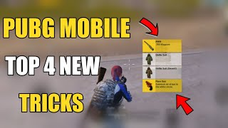 PUBG MOBILE TOP 4 SECRET TIPS AND TRICKS HINDI ! ONLY 0.2% PEOPLE KNOW ABOUT THIS TRICKS IN PUBG