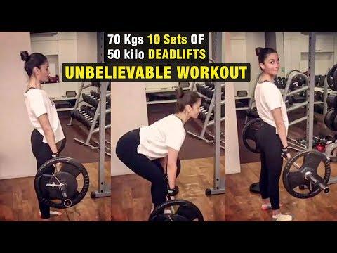 Alia Bhatt Lifts 70 Kgs | 10 Sets Of 50-Kilo Deadlifts | UNBELIEVABLE Workout Video Mp3