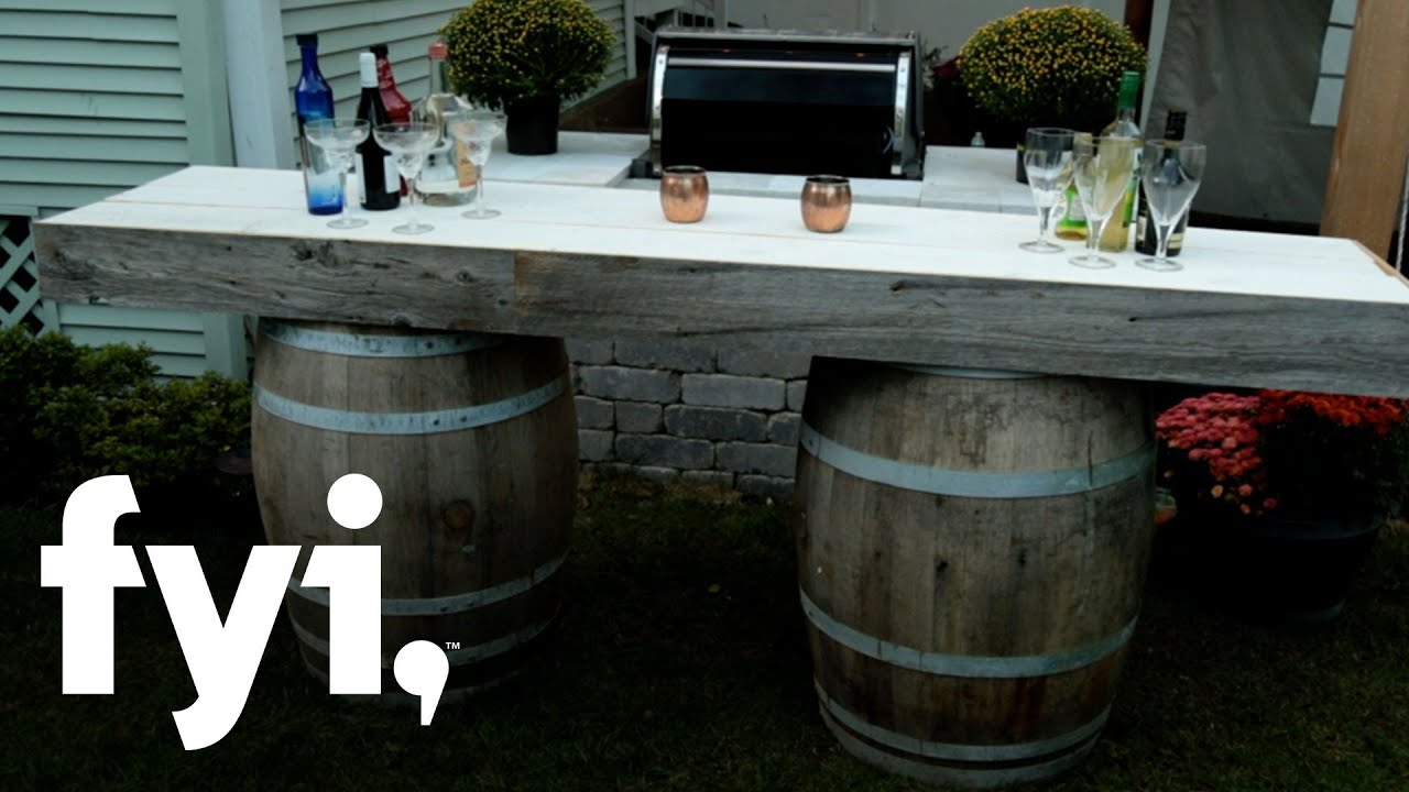 diy wine barrel bar tutorial downtown shabby fyi youtube
