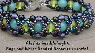 Hugs and Kisses Beaded Bracelet Tutorial