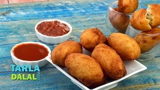Cheesy Paneer Bread Rolls by Tarla Dalal