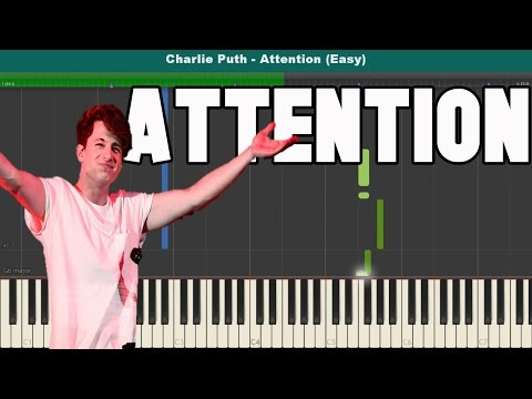 Attention Piano Tutorial - Free Sheet Music (Charlie Puth)