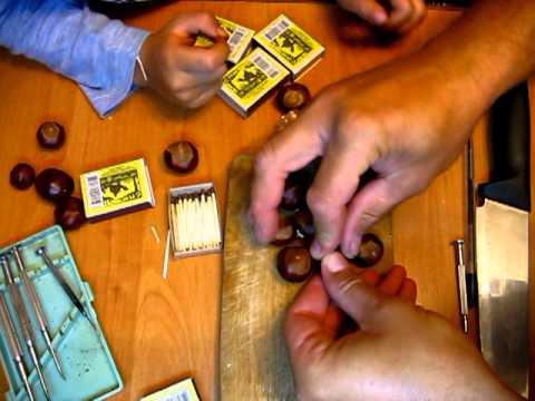 видео: Поделки из каштанов 15.09.2011