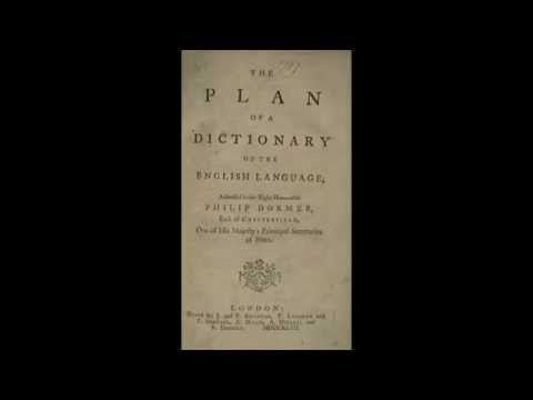 The Plan of a Dictionary of the English Language - Samuel Johnson (Part 2 of 2)