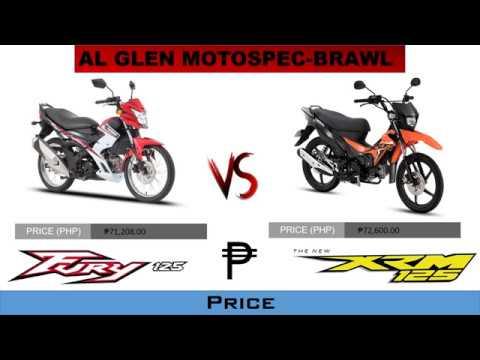 2018 Kawasaki Fury 125 Vs 2018 Honda Xrm 125 Philippines Youtube