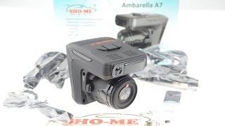 Радар детектор видеорегистратор SHO ME Combo 3 A7 - Видеообзор
