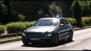 Funkstreifenwagen Polizei + Zivilstreife Kripo Heidelberg [Schießerei auf Campingplatz]