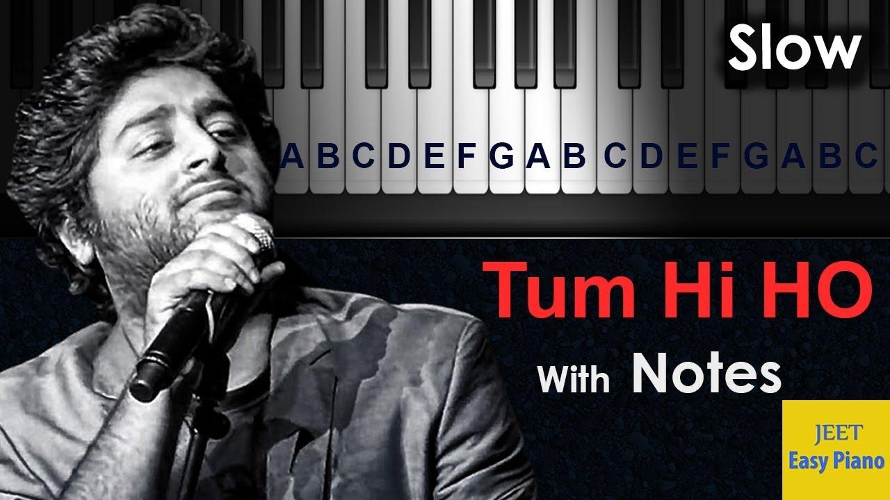 easy piano hindi songs for beginners hindi Tumhi ho - YouTube