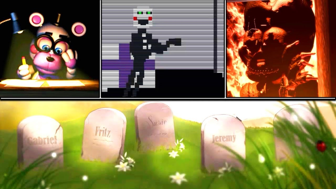 Five Nights at Freddy s 6 All Endings