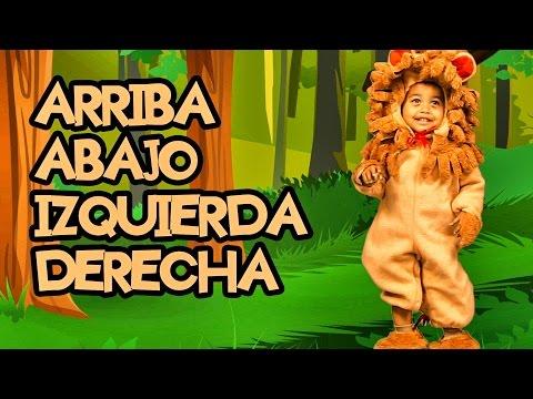 ARRIBA, ABAJO, IZQUIERDA, DERECHA - Canciones Infantiles - Videos Educativos para Niños #