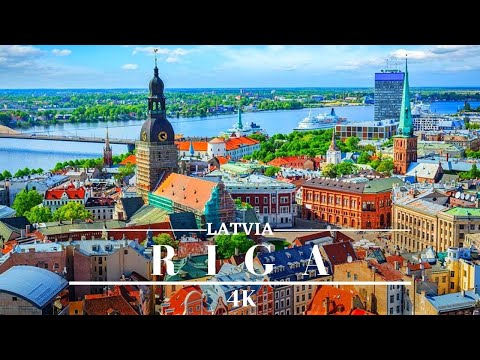 Riga Latvia 4K 🇱🇻 Largest City In The Baltic States- Cinematic Drone Footage