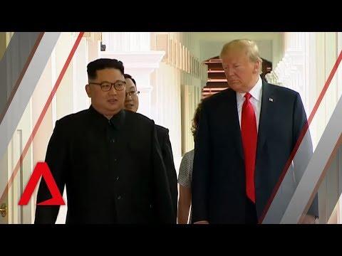 Trump-Kim summit: Donald Trump and Kim Jong Un's historic handshake