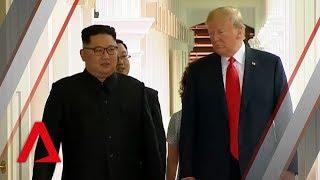 History made: Donald Trump and Kim Jong Un meet for Singapore summit Donald Trump and Kim Jong Un meet