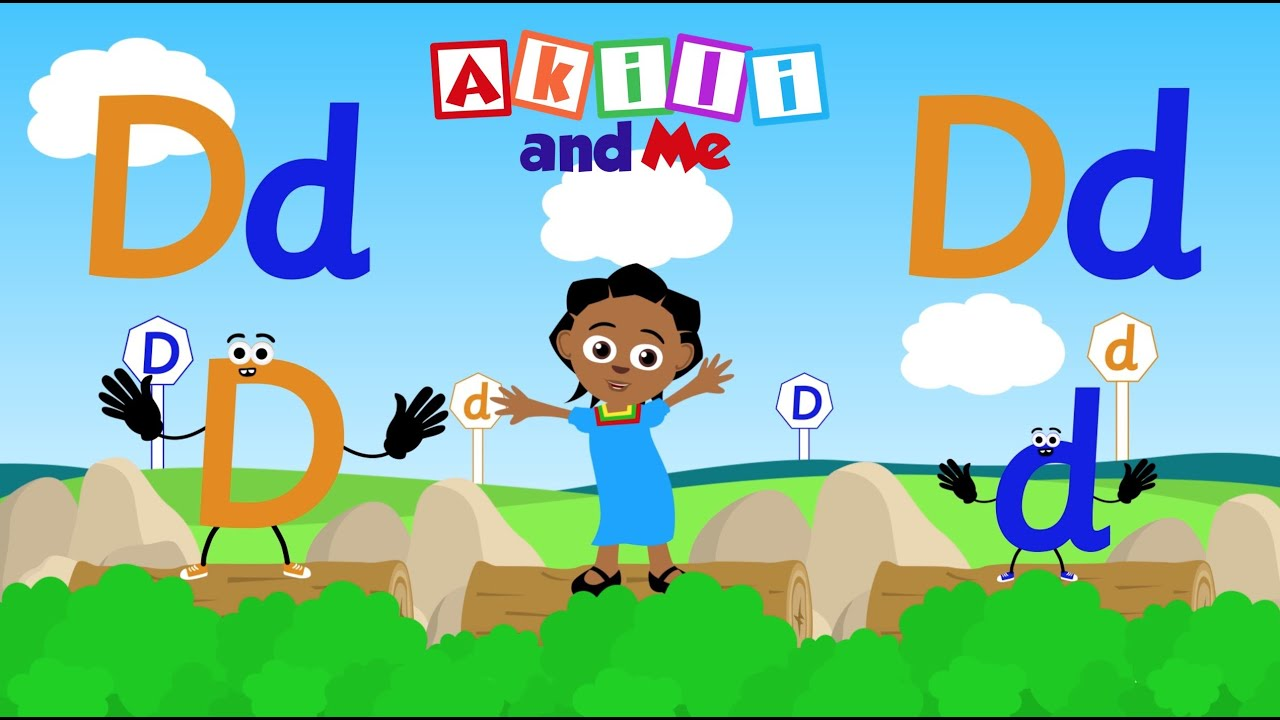 The Letter D   Educational Phonics Song   Akili and Me - African Edu Cartoons!