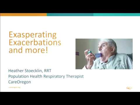 COPD: Prevention and Management of Exacerbations CareOregon MEDS Ed seminar (4/6)