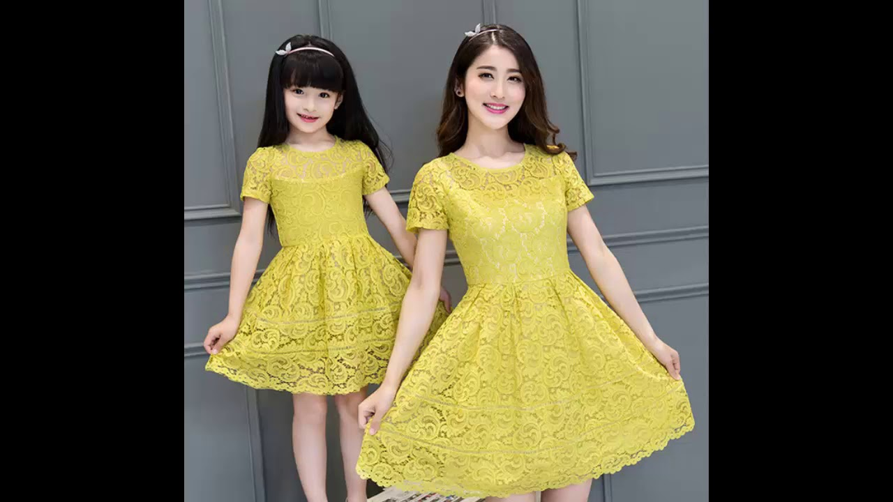 217d6c910d Latest Mom and Daughter Matching Dress Collections | Kids Party Wear Dress