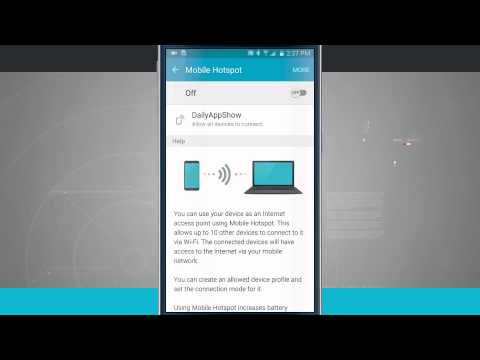 How to hotspot from samsung to laptop