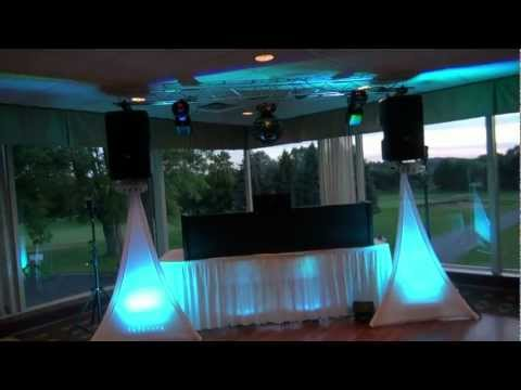 Wedding With ADJ Dura Truss Mounted On The RCF 312A Speakers
