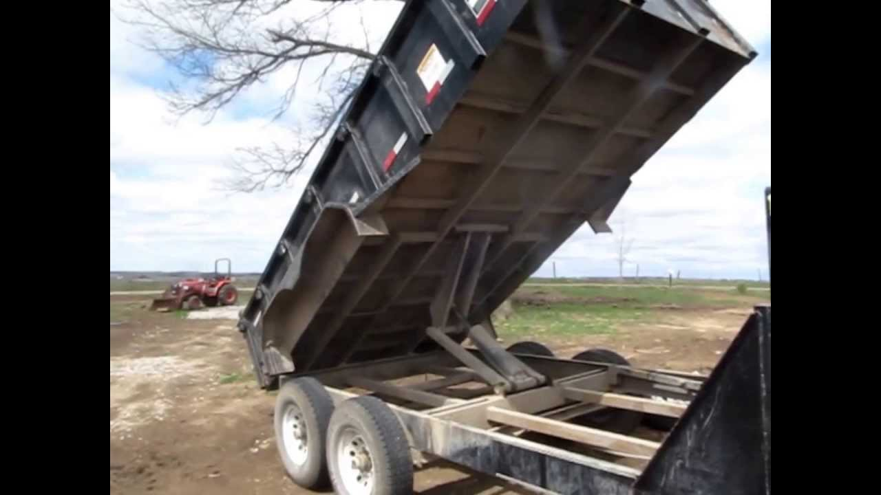 2007 Big Tex 14lx Gooseneck Tandem Axle Dump Trailer For