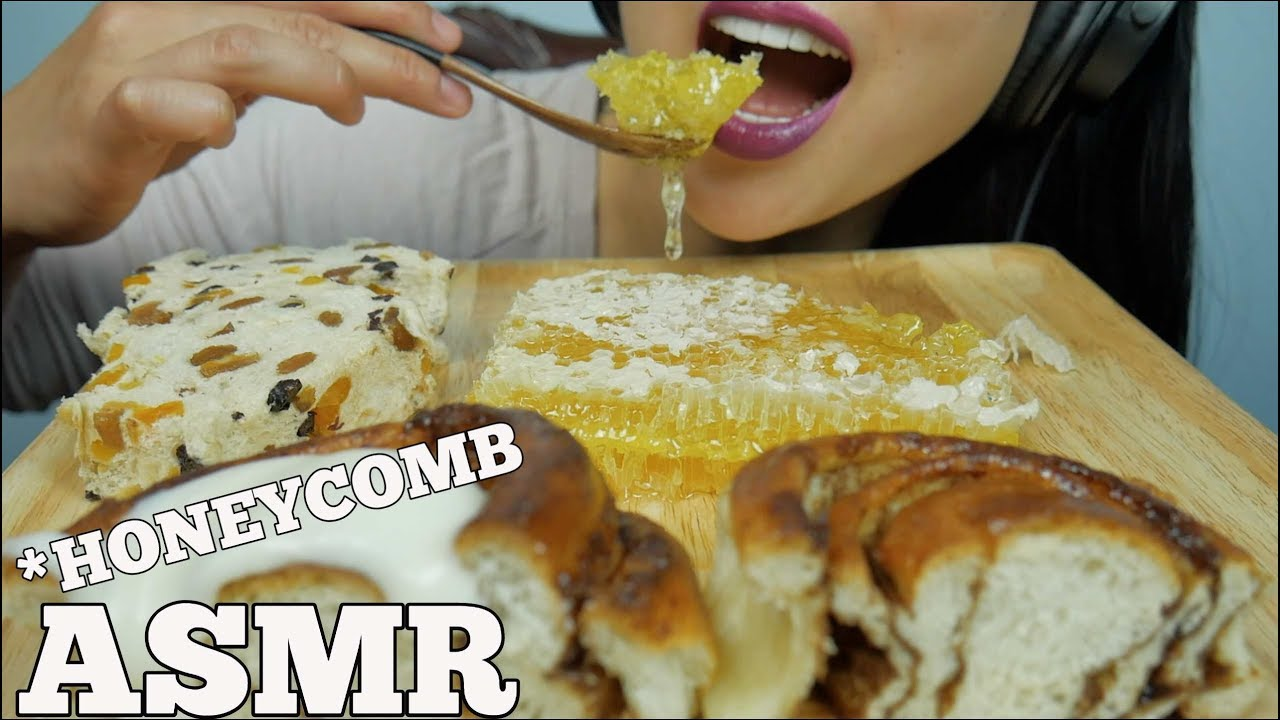 Asmr Honeycomb Cinnamon Roll Extreme Soft Sticky Eating Mouth Sounds No Talking Sas Asmr