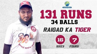 131 in just 34 balls - USMAN PATEL