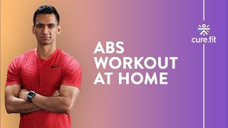 14 Mins Abs & Oblique Workout by Cult Fit | Abs Workout At home | No Equipment | Cult Fit | Cure Fit screenshot 3