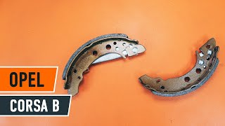 How to replace Brake shoe set on OPEL CORSA B (73_, 78_, 79_) - video tutorial