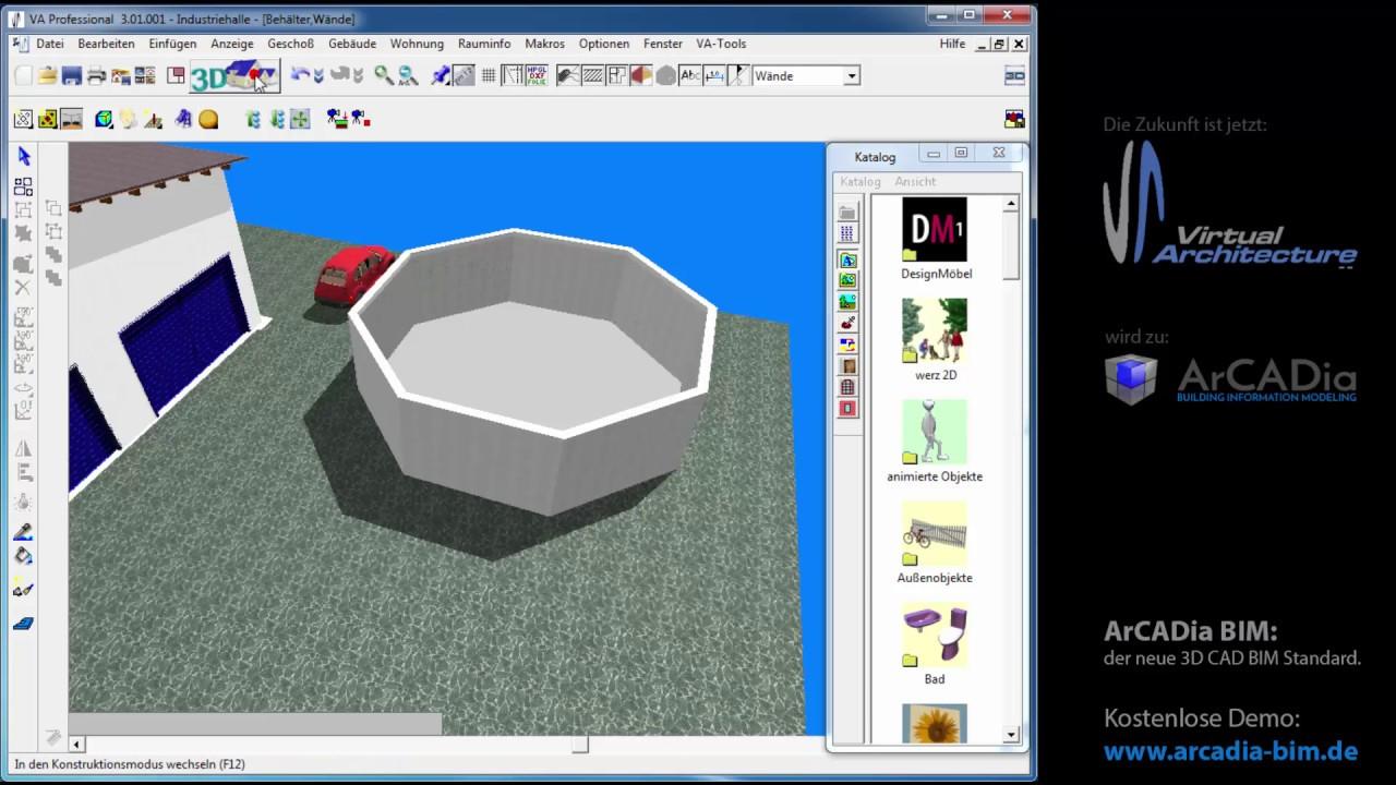 grundlagen das lineal und wie ich es im va 3d hausplaner nutzen kan va 3d cad tutorial. Black Bedroom Furniture Sets. Home Design Ideas