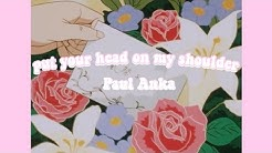 put your head on my shoulder but it's playing in another room + it's raining