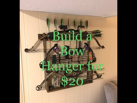 Make A Compound Bow Rack For 20 Archery Diy Youtube