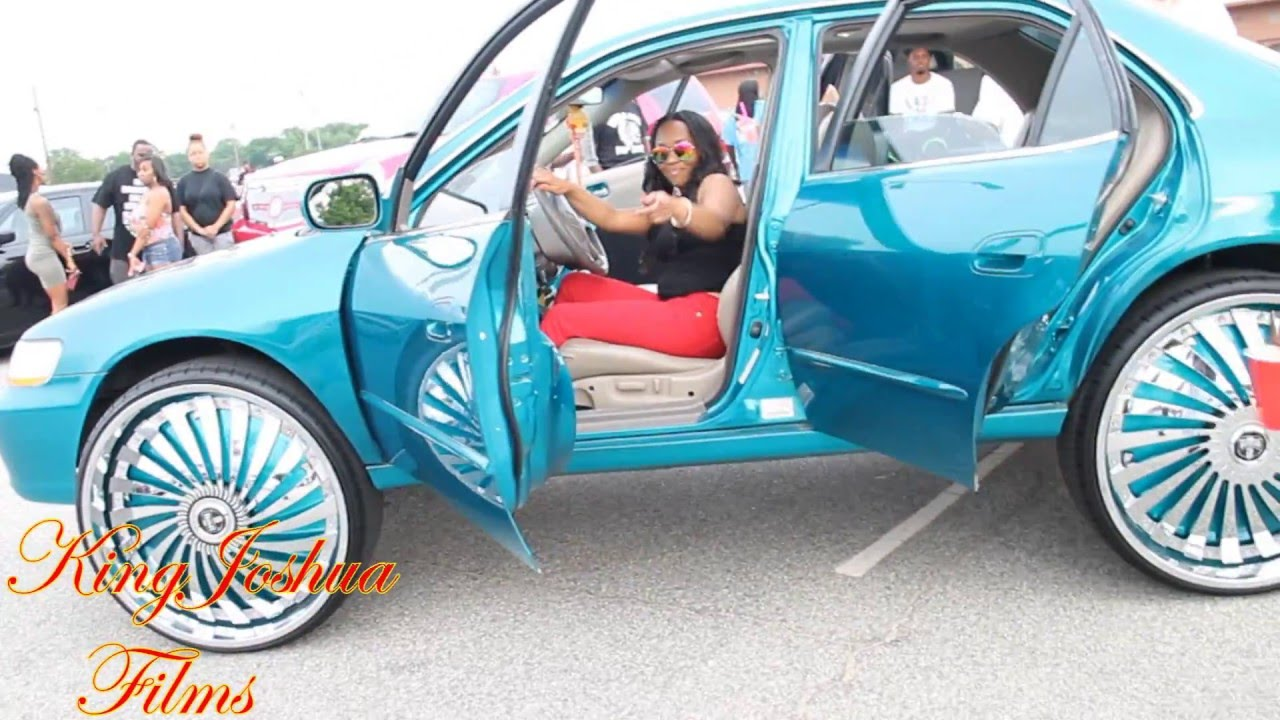 Candy Teal Honda Accord on 28s Dub Floaters And Candy Teal ...