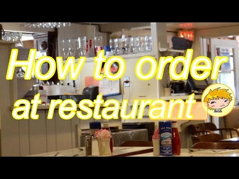 How To Order At Restaurant 【Japanese Conversation Lesson】