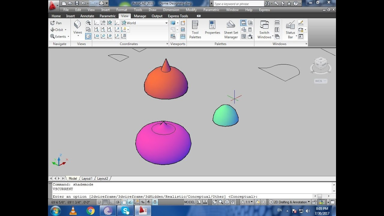 How To Create A Dome in 2D and 3D Using AutoCAD - Dome Designing