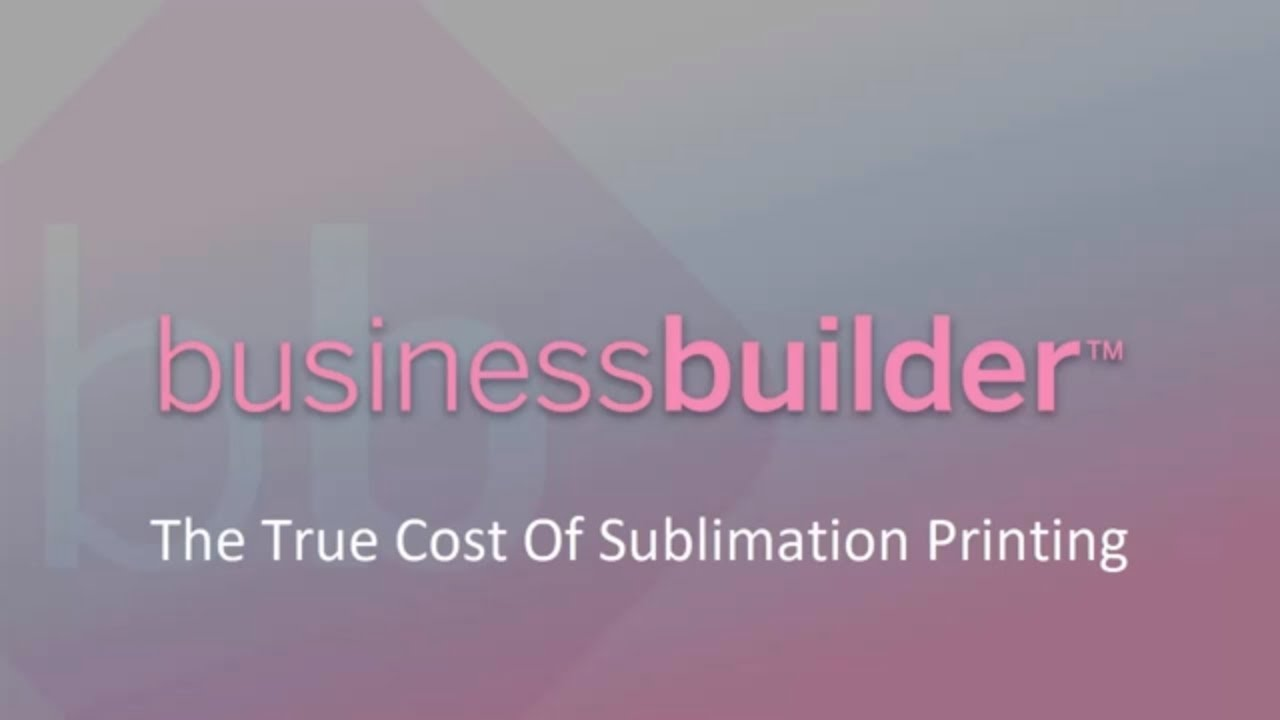 The True Cost Of Sublimation Printing