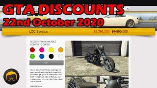 GTA Online Best Vehicle Discounts (22nd October 2020) - GTA 5 Weekly Car Sales Guide #59