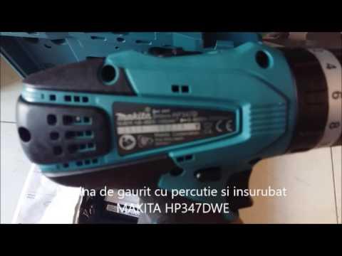 Masina de gaurit cu percutie si insurubat MAKITA HP347DWE - Set de livrare