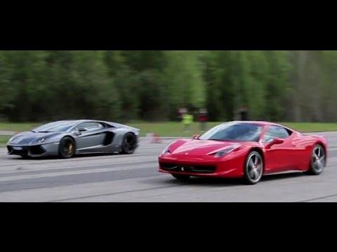50p] Lamborghini Aventador LP700-4 vs Ferrari 458 Italia (presscar