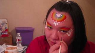 Easy Rainbow Princess design - face painting tutorial Thumbnail