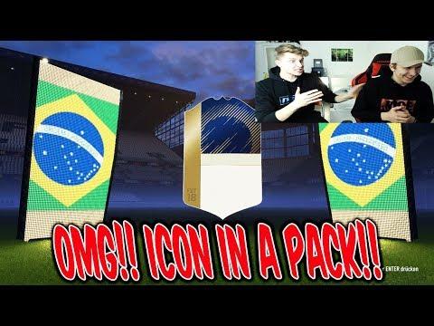 Mein BRUDER zieht die NÄCHSTE KRANKE ICON im PACK!! 💎🤑 Fifa 18 Pack Opening Ultimate Team Deutsch