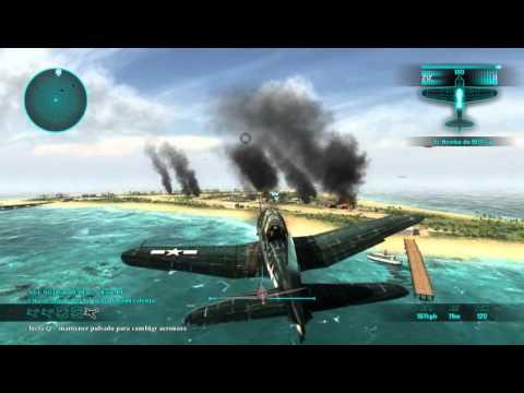 Air Conflicts - Pacific Carriers Gameplay #5 Asalto al Atolon de Maloelap Batalla