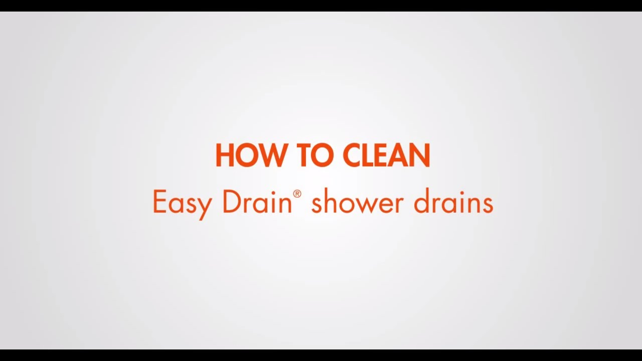 How To Clean Your Easy Drain Shower Drain English Youtube