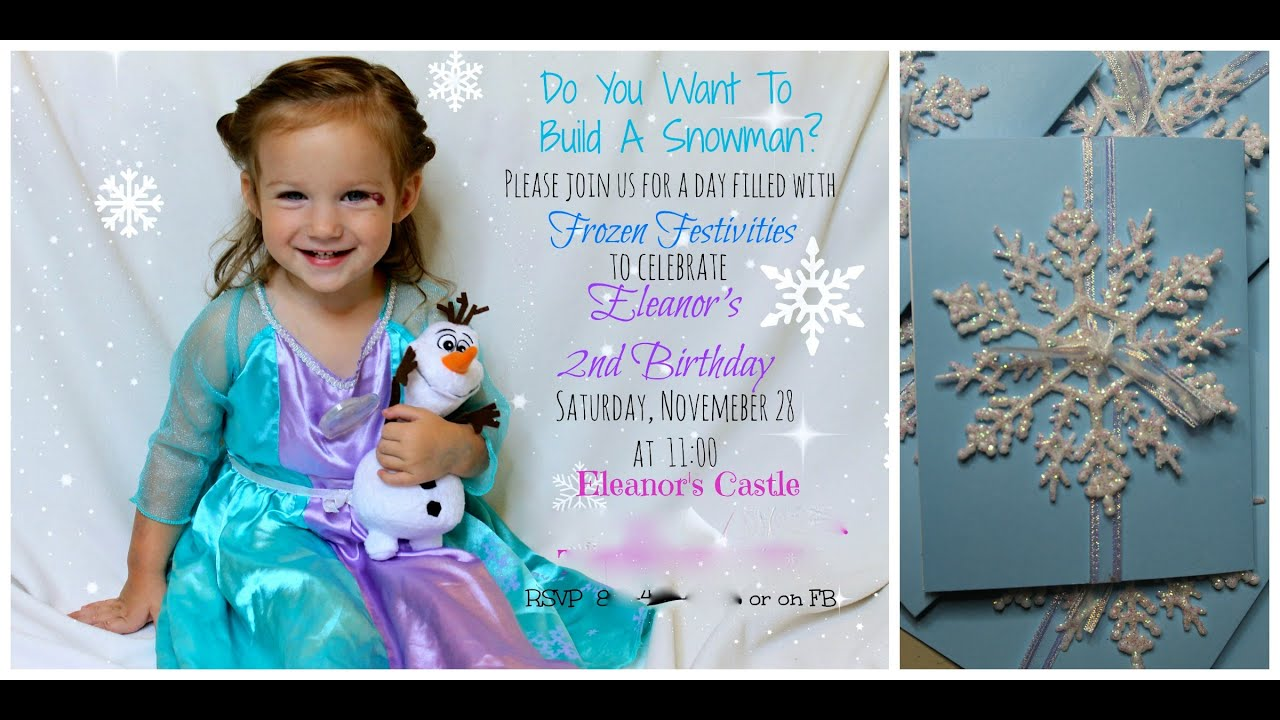 Diy frozen invites i easy and awesome youtube diy frozen invites i easy and awesome solutioingenieria Image collections