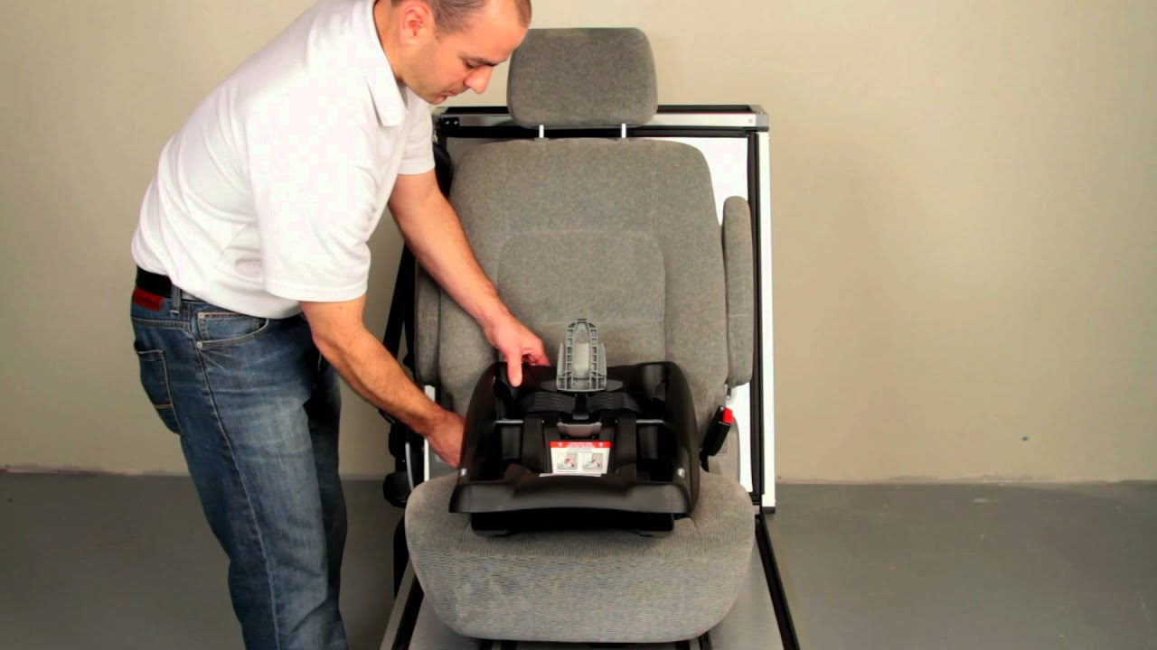BRITAX B-SAFE: Installing the Base using the LATCH System - YouTube