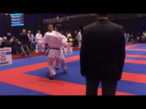 ERIK GEVORGYAN in Action Karate1 Premier League Rotterdam 2017 (Dutch Open)