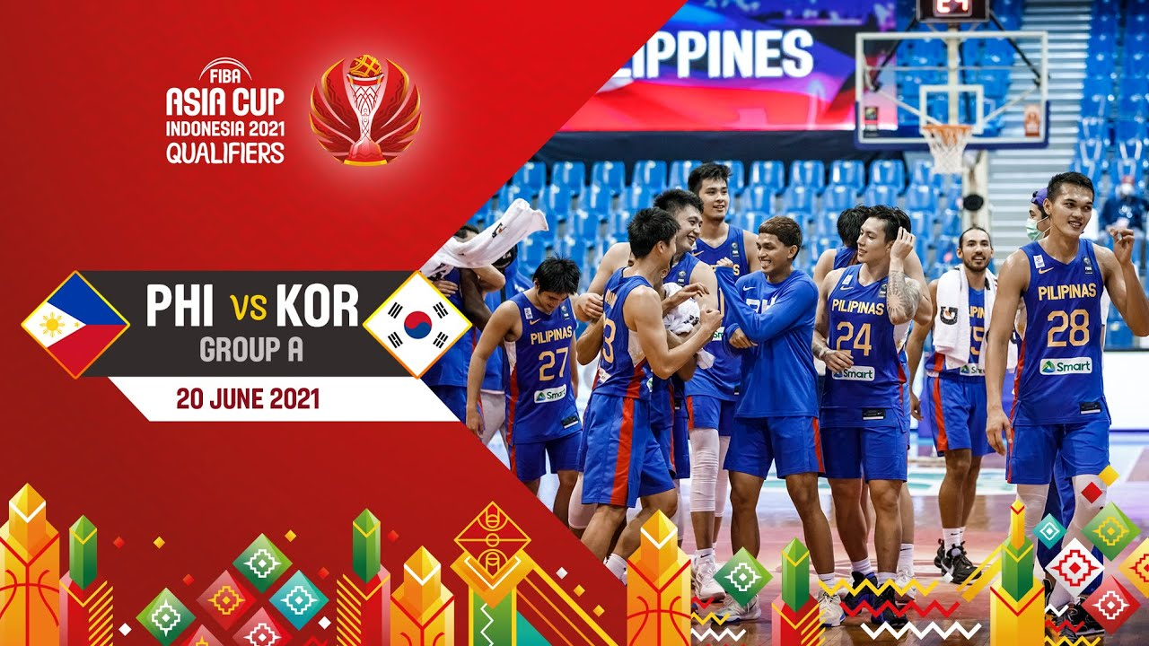 Philippines v Korea | Full Game - Asia Cup 2021 Qualifiers